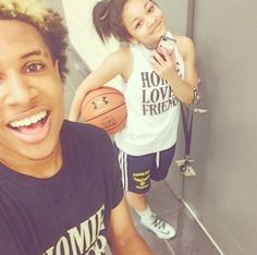 chris & tyla. (tyla outfit)basketball