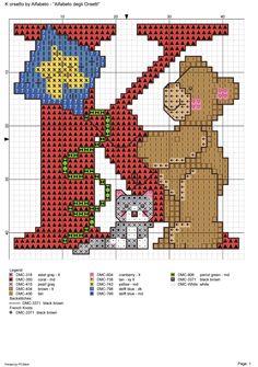 alfabeto degli orsetti : K
