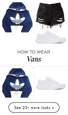 """""""white vans"""" by josie-nalie on Polyvore featuring adidas and Vans"""