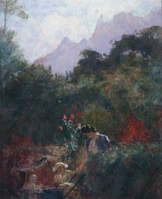 """""""Um Ninho-Teresópolis"""".  (1940). (by Eliseu Visconti)."""