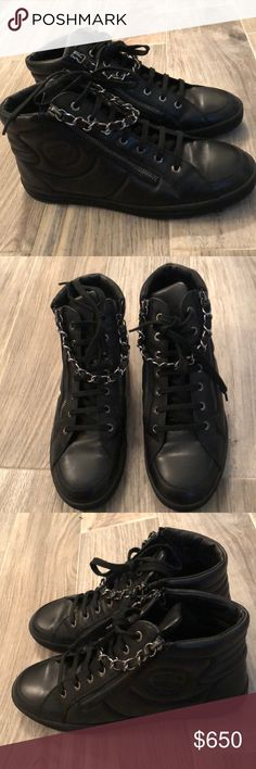 c6807b847cf Shop Men s CHANEL Black size 9 Sneakers at a discounted price at Poshmark.