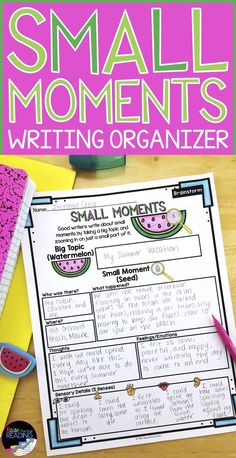 This small moments writing graphic organizer is a great writing strategy support for your students in the prewriting and revising stages of the writing process! So helpful in getting students to work independently during writers workshop or readers worksh Second Grade Writing, Pre Writing, Writing Workshop, Kids Writing, Teaching Writing, Writing Centers, Readers Workshop, Kindergarten Writing, Opinion Writing