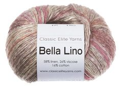 Bella Lino is a lightweight yarn that creates an airy fabric with long, harmonious stripes. The palette of summery shades each have a linen-hued base.