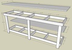 An L Shaped Garage Workbench Work Spaces Pinterest