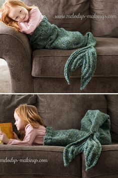 Sew Weighted Blanket Free Knitting Pattern for Mermaid Tail Blanket - Adult and Child Sizes - Lapghan shaped like a mermaid tale. Designed by Melody Rogers. A crochet version is also available. Mermaid Blanket Pattern, Mermaid Tail Pattern, Free Baby Blanket Patterns, Crochet Blanket Patterns, Baby Knitting Patterns, Free Knitting, Baby Patterns, Knitting Yarn, Knitting Ideas