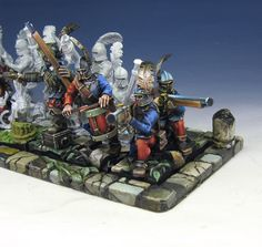 James Wappel Miniature Painting: Starting the second rank: Empire Gunners and some SE-NMM