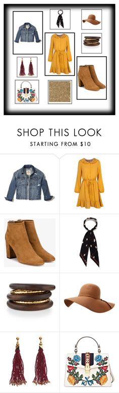 """""""Spring"""" by bridget-eichman ❤ liked on Polyvore featuring Hollister Co., Aquazzura, Rockins, NEST Jewelry, Nocturne, Gucci, Spring and floralprint"""