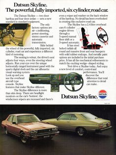 Australian Cars, Nissan Infiniti, Japan Cars, Car Advertising, Motor Company, Nissan Skyline, Vintage Japanese, Old Cars, Vintage Cars