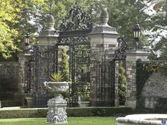 """""""Trust in dreams, for in them is hidden the gate to eternity."""" - Khalil Gibran ...............  * Entrance gate to Kykuit, TarryTown, NYC."""