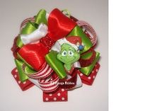 The Grinch Flower Stack by All things Ribbon