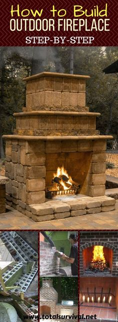 To Build An Outdoor Fireplace - Total Survival - How To Build An Outdoor Fireplace Homesteading Tips, Homesteading news, Self Sufficiency Tips, Self-reliance Tips: How To Build An Outdoor Fireplace Build Outdoor Fireplace, Outside Fireplace, Outdoor Fireplace Designs, Backyard Fireplace, Diy Fireplace, Outdoor Walls, Outdoor Living, Outdoor Fireplaces, Electric Fireplaces