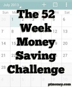 """""""The 52 Week Money Saving Challenge""""-If U Are Employed,-""""SHAME ON U"""" If U dont ATTEMPT this right NOW!! A Relatively EASY, Ingenious Way towards Achieving A (Potentially-Limitless) Financial Security-Net! Remember, A 1000-Mile Journey Begins w/1 Single Step."""