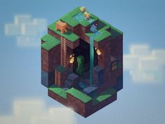 This is the O from my Letter-a-Day project. It's always been one of my favorites, and I knew I wanted to do this as a Minecraft tribute before I even started my letter A. You can see some of ...