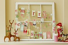 decorated Christmas window by corrie jones @ shimelle.com