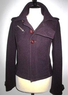 * * * DIESEL Jacke violett, Gr.S * * * Diesel, Leather Jacket, Athletic, Jackets, Fashion, Diesel Fuel, Studded Leather Jacket, Down Jackets, Moda