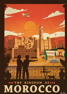 Vintage Travel Travel Poster from IdeaStorm Morocco - Size - Digital Print on 80 lb cover matte white *SHIPPING DETAILS* Items will be mailed out in tubes within 3 days after order. Vintage Poster, Vintage Travel Posters, Vintage Postcards, Vintage Advertisements, Vintage Ads, Vintage Crafts, Tourism Poster, Kunst Poster, Art Deco Posters