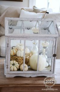 Glass Greenhouse, Decorating with Pumpkins via House of Hargrove