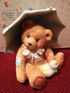 "40% off  ~ Alan ""Showers of Friendship"" 1993 April Bear Retired Cherished Teddies   eBay"