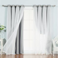 Tulle blackout curtains