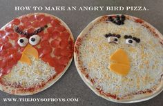 Angry Birds Birthday Party food: Angry Birds Pizza and Cake - The Joys of Boys