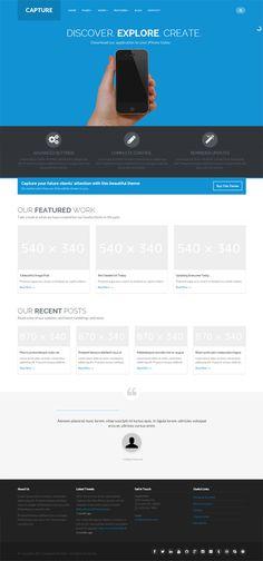 Capture - Responsive Bootstrap WordPress Theme