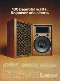 Vintage audio Pioneer speakers Ad