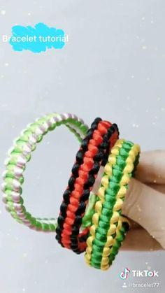 Diy Friendship Bracelets Tutorial, Diy Bracelets Easy, Friendship Bracelet Patterns, Handmade Bracelets, Hemp Bracelet Tutorial, String Bracelets, Cord Bracelets, Diy Crafts Jewelry, Bracelet Crafts