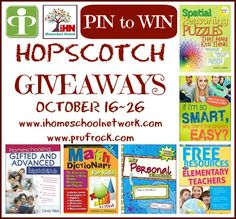 hopscotch pin to win with @Prufrock Press #homeschool prize packs for gifted, high school, middle school, and elementary school