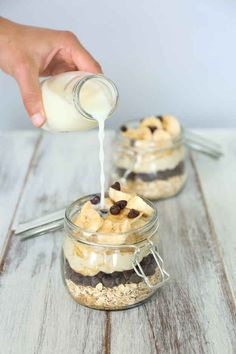 Easy breakfast ideas - Chocolate Chip Cookie Dough Overnight Oats