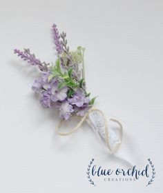 Lavender Boutonniere Lavender and by blueorchidcreations on Etsy