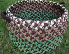 images about Crafts Baskets, Braided T Shirts