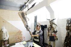 Studio Visit with Die Mortal, photo by Owen Richards