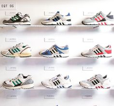 "Og time! Adidas celebrates the launch of the brandnew EQT collection with a great ""history of EQT"" exhibition! Og's rare collabs hybrids! @overkill_marc hosts the exhibition he's a real expert on EQT! Come by until January 20 - Mittelstr. 43 Berlin! #sneakersmag #adidas #berlin #eqt #equipment #adidasoriginals #og #overkill #sneaker #kotd #sadp"