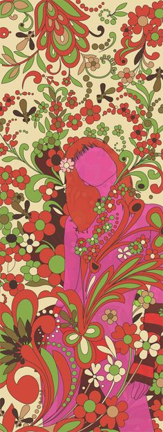 Psychedelic 60s commercial illustration... this style was everywhere when I was growing up!