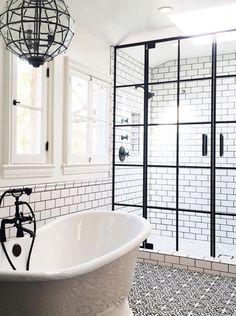 Restoration hardware, #bathroom interior design, life.style. design firm, white bathroom