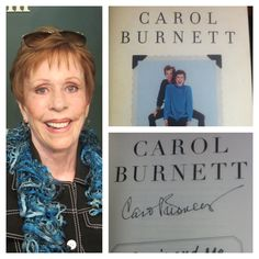 Carol Burnett wearing a scarf I made...signing copies of Carrie and Me: A mother-daughter love story!