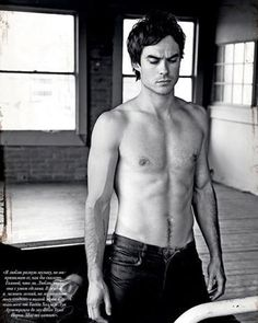 Ian Somerhalder Goes Shirtless in InStyle Man Russia, April 2012