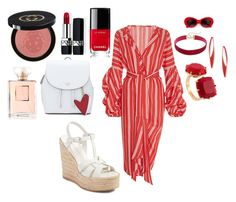 """""""Out Doors Sunday Brunch with friends."""" by boucher-design-inc on Polyvore featuring Johanna Ortiz, Yves Saint Laurent, Les Néréides, Chanel, Christian Dior and Gucci"""
