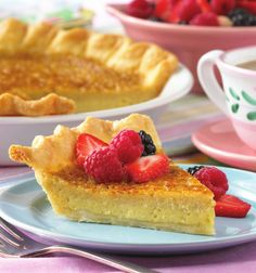 A beautiful golden sugar coating tops the smooth and creamy custard filling of this sweet, rich Southern favorite. So good, it's legendary! #pie #dessert
