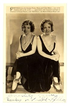 """The documentary """"Bound by Flesh"""" recounts the lives of Violet and Daisy Hilton, conjoined twins who became a famous vaudeville act. Daisy And Violet Hilton, Circus Aesthetic, Creepy Circus, Sideshow Freaks, Conjoined Twins, Cultura General, Vintage Circus, American Horror, Vintage Photographs"""