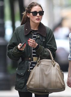 Olivia Palermo out and about in NYC+Chloe handbag Gemma Tote