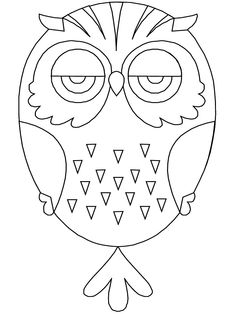 Birds Owl Animals Coloring Pages printable coloring page image for kids of all ages. Owl Coloring Pages, Online Coloring Pages, Printable Coloring, Coloring Pages For Kids, Coloring Books, Kids Coloring, Painted Rocks Owls, Owl Rocks, Owl Patterns