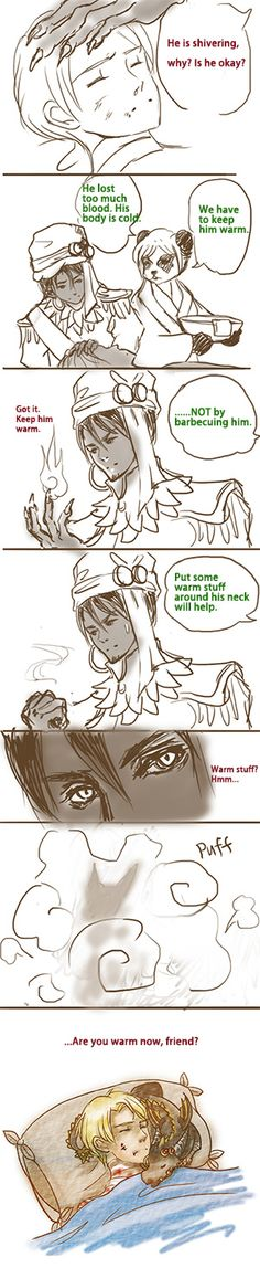 [Wrathion Anduin] Are you warm now, friend? by Athena-Erocith
