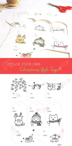 8 Christmas Gift Tags For People Who Love To Color