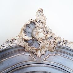 Beautiful Rococo crest / antique French armoire / bespoke colours &…                                                                                                                                                                                 More