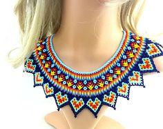 Huichol Beaded Colar Necklace