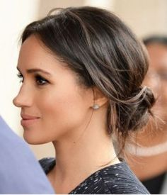 Meghan Markle is now HRH The Duchess of Sussex. Truly an American princess. Meghan Markle is now HRH The Duchess of Sussex. Truly an American princess. Wedding Hair And Makeup, Bridal Hair, Hair Makeup, Bridal Beauty, Hair Inspo, Hair Inspiration, Wedding Hairstyles, Cool Hairstyles, Classic Updo Hairstyles