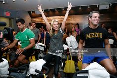 Mark Consuelos , Kelly Ripa and Andy Cohen attend the Action for Healthy Kids Benefit at SoulCycle Tribeca on May 4, 2011 in New York City.