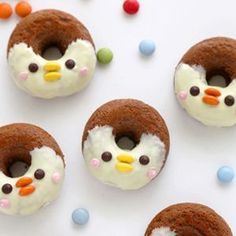 Gluten-free to enjoy Halloween in candy (flour non-use) Bento Recipes, Donut Recipes, My Recipes, Food Art, A Food, Good Food, Food And Drink, Fancy Donuts, Cute Donuts
