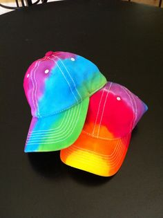 RAINBOW BASEBALL CAP Tie Dye Baseball Cap Hat $15.00